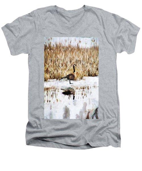 The Lone Traveler Men's V-Neck T-Shirt