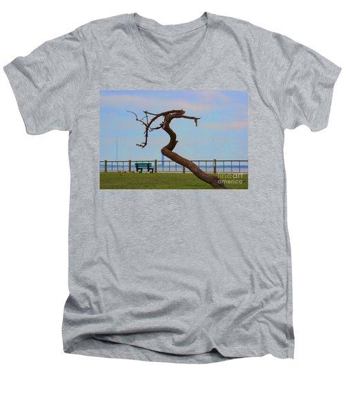 The Lone Tree Men's V-Neck T-Shirt