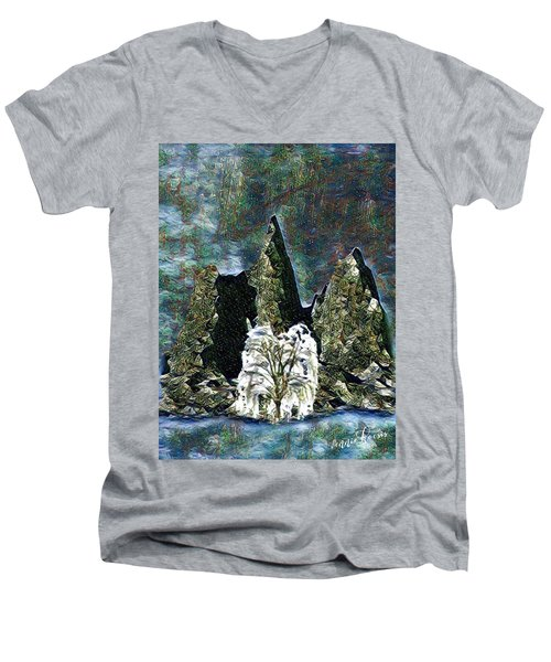 The Loneliest Tree Men's V-Neck T-Shirt by Vennie Kocsis