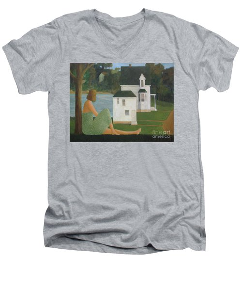 The Lonely Side Of The Lake Men's V-Neck T-Shirt