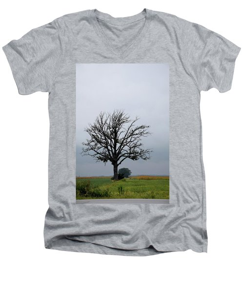 The Lonely Tree Men's V-Neck T-Shirt