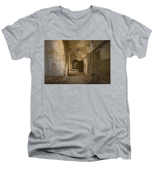 The Long Hall Men's V-Neck T-Shirt by Inge Riis McDonald