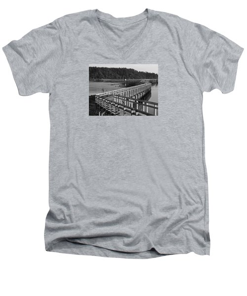 The Long Walk Men's V-Neck T-Shirt by I'ina Van Lawick