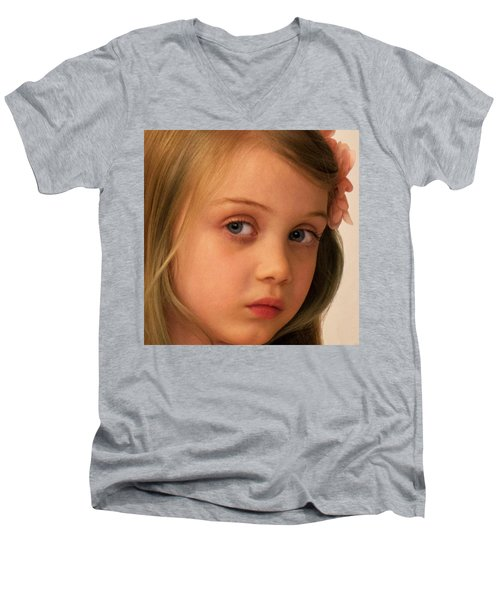 Men's V-Neck T-Shirt featuring the photograph The Look by Stephen Flint