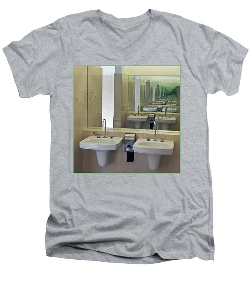 The Looking Glass Men's V-Neck T-Shirt by Christopher McKenzie