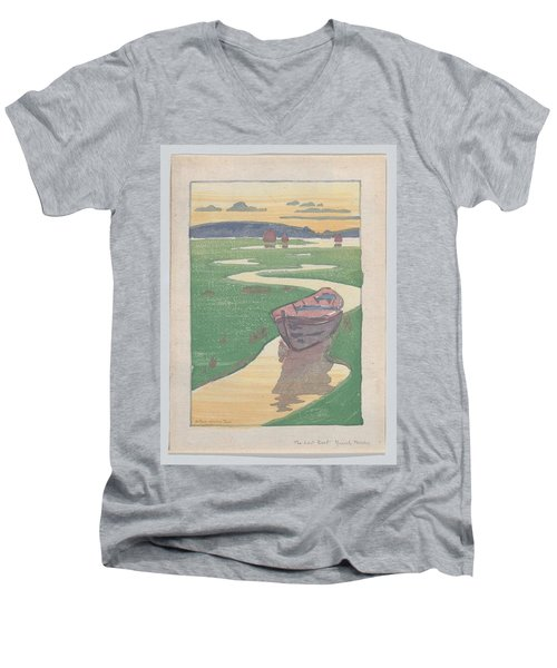 The Lost Boat , Arthur Wesley Dow Men's V-Neck T-Shirt