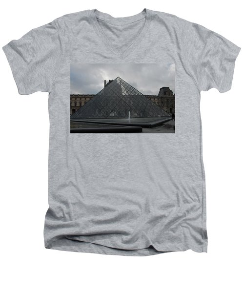 Men's V-Neck T-Shirt featuring the photograph The Louvre And I.m. Pei by Christopher Kirby