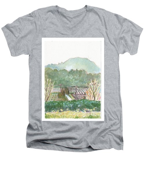 The Luberon Valley Men's V-Neck T-Shirt by Tilly Strauss