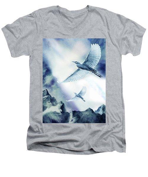 The Magic Of Flight Men's V-Neck T-Shirt by Hartmut Jager