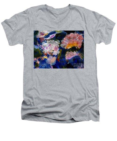 The Magic Of Flowers Men's V-Neck T-Shirt