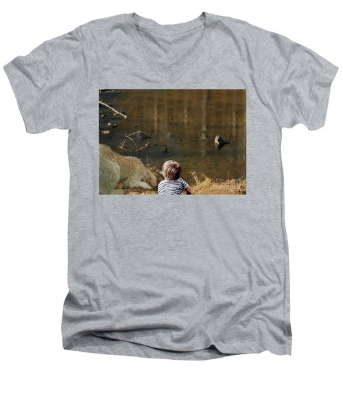 The Magic Of Learning With A Friend Men's V-Neck T-Shirt