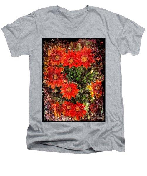 The Magical Flower Garden Men's V-Neck T-Shirt