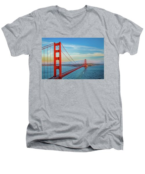 Men's V-Neck T-Shirt featuring the photograph The Majestic by Az Jackson