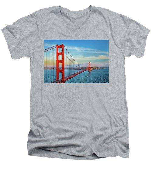 The Majestic Men's V-Neck T-Shirt by Az Jackson
