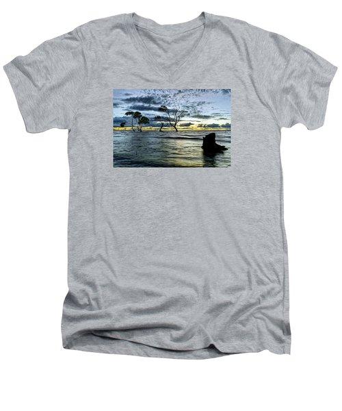 The Mangrove Trees Men's V-Neck T-Shirt by Robert Charity