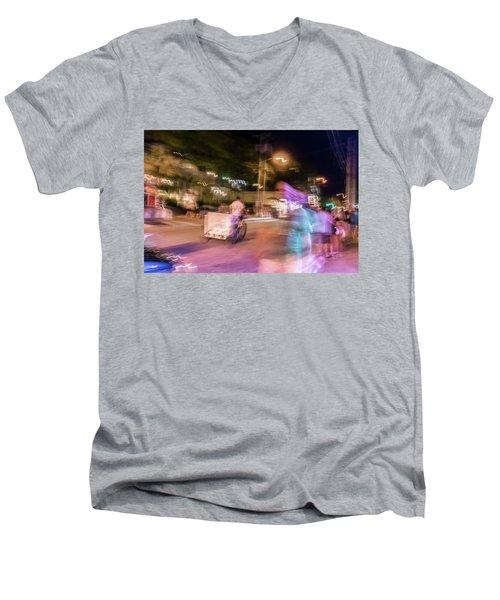 The Many Moods Of Duval Street Men's V-Neck T-Shirt
