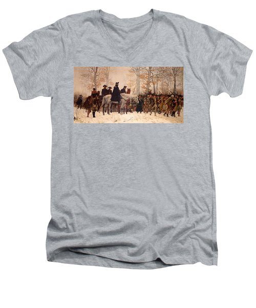 The March To Valley Forge Men's V-Neck T-Shirt