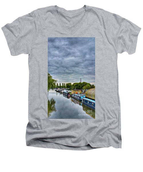 The Marina Men's V-Neck T-Shirt by Isabella F Abbie Shores FRSA