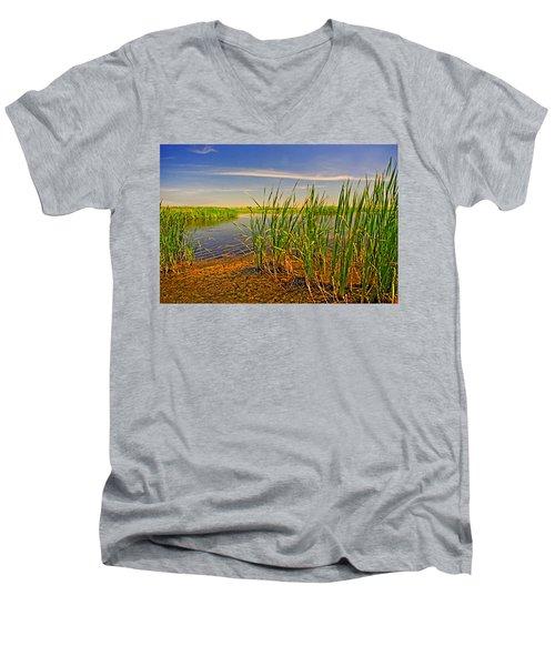 The Marshes Of Brazoria Men's V-Neck T-Shirt