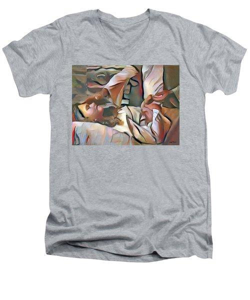 The Master's Hands - Healer Men's V-Neck T-Shirt