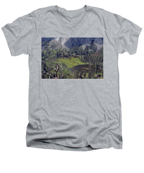 The Meadow From Four Mile Trail Men's V-Neck T-Shirt