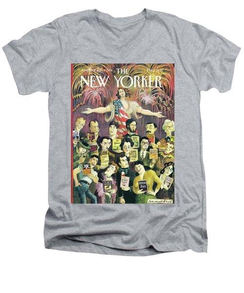 New Yorker June 27th, 1994 Men's V-Neck T-Shirt