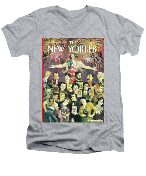 New Yorker June 27th, 1994 Men's V-Neck T-Shirt