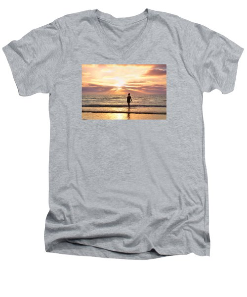 Men's V-Neck T-Shirt featuring the photograph The Mermaid by Rima Biswas