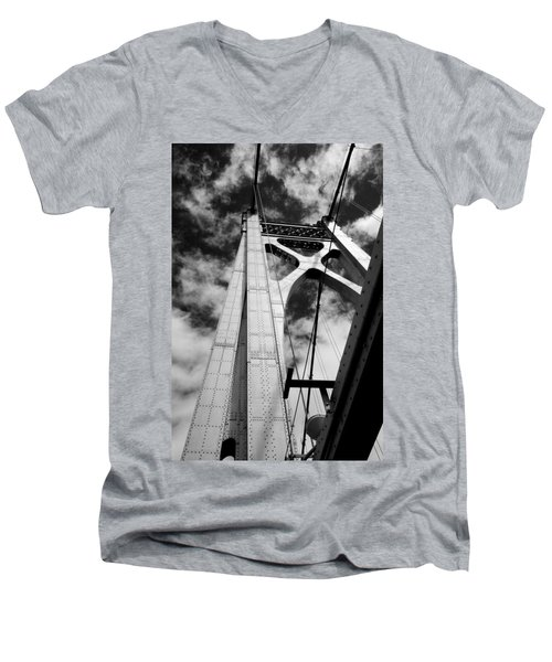 The Mid-hudson Bridge Men's V-Neck T-Shirt