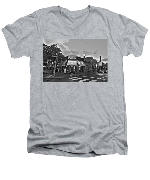 The Middle East In Central Square Cambridge Ma Black And White Men's V-Neck T-Shirt