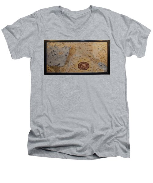 Men's V-Neck T-Shirt featuring the photograph The Middle East by Mae Wertz