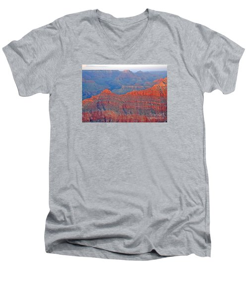 The Mighty Grand Canyon Men's V-Neck T-Shirt by Nick  Boren