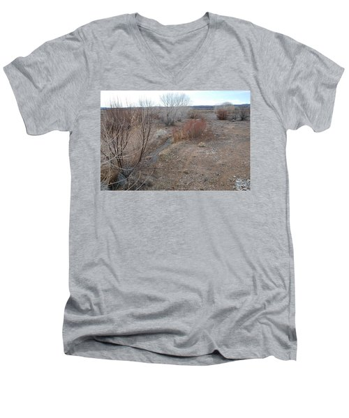 Men's V-Neck T-Shirt featuring the photograph The Mighty Santa Fe River by Rob Hans