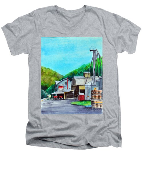 The Mill At Shade Gap II Men's V-Neck T-Shirt