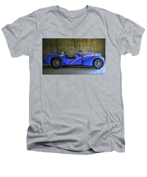 The Million Franc Car Men's V-Neck T-Shirt by Josh Williams