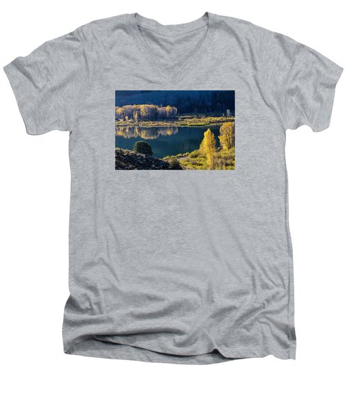 The Mirror In Her Hand Men's V-Neck T-Shirt
