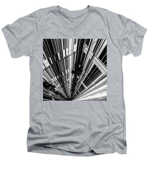 The Mirror Room Men's V-Neck T-Shirt by Karen Lewis