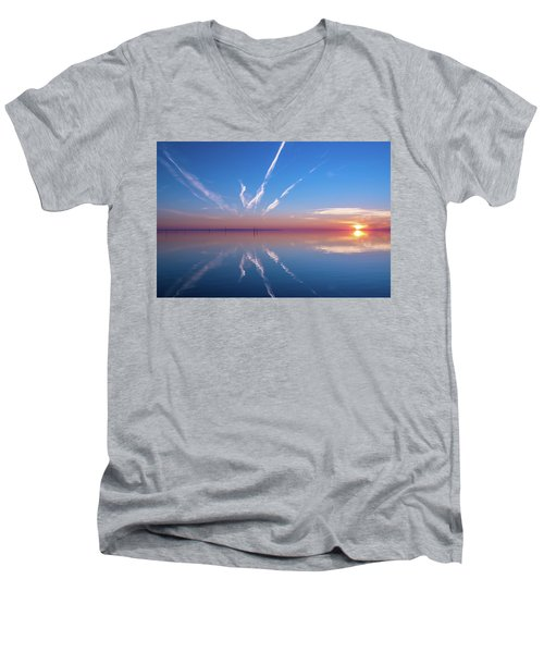 Men's V-Neck T-Shirt featuring the photograph The Mirror by Thierry Bouriat