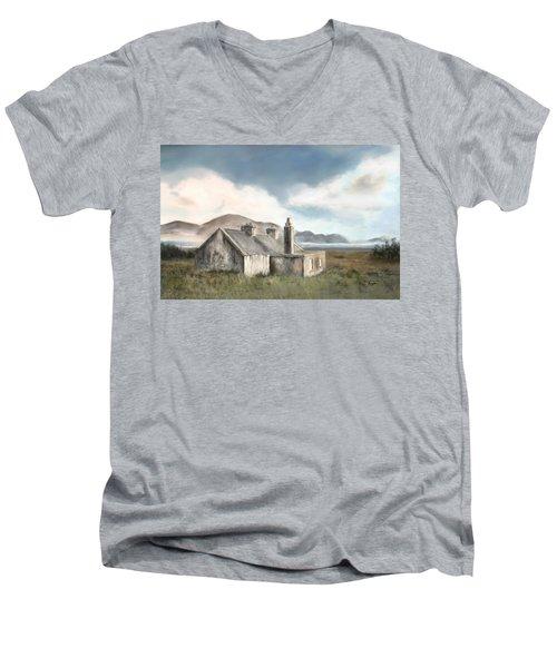 The Mist Of Moorland Men's V-Neck T-Shirt