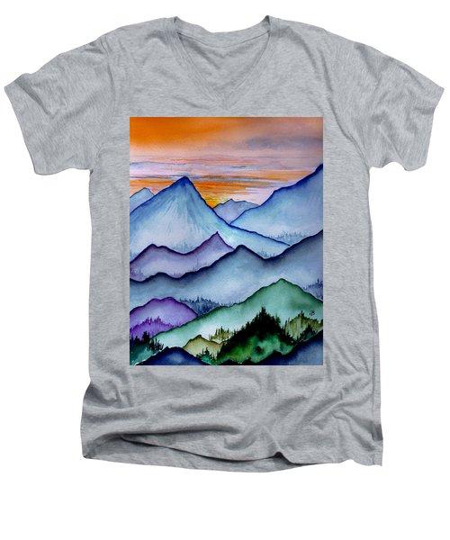 The Misty Mountains Men's V-Neck T-Shirt