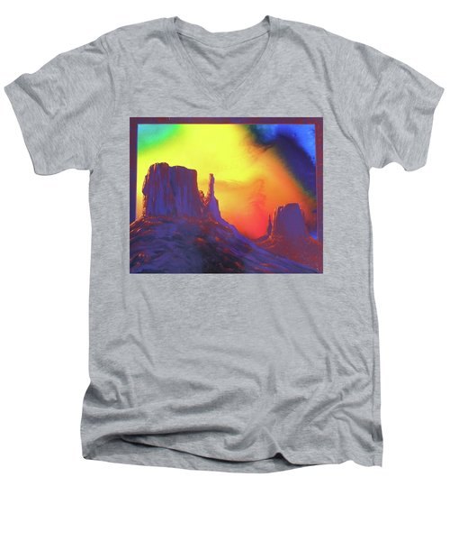 The Mittens , Psalm 19 Men's V-Neck T-Shirt by Alan Johnson