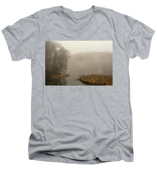 The Morning After Men's V-Neck T-Shirt by Angelo Marcialis