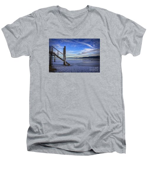 The Morning After Blues Men's V-Neck T-Shirt by Mitch Shindelbower
