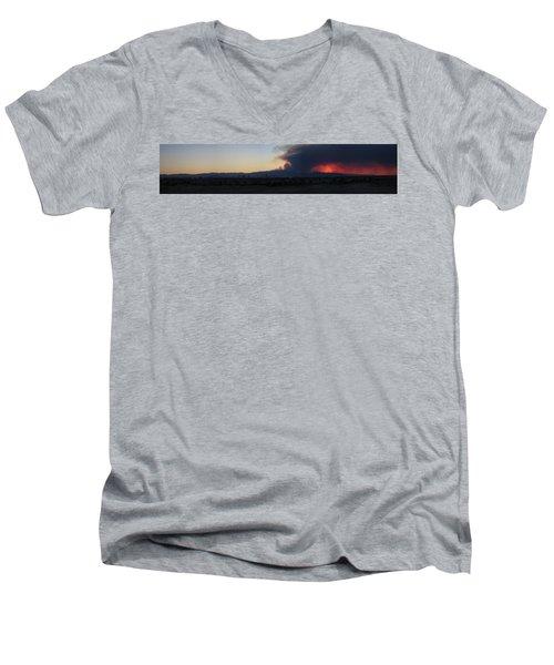 The Mount Charleston Fire Men's V-Neck T-Shirt