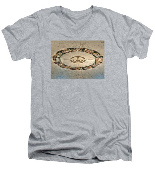 The Mural Men's V-Neck T-Shirt by Mark Dodd