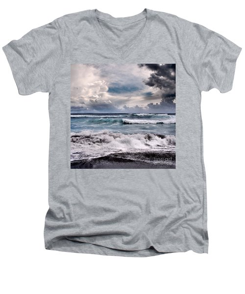The Music Of Light Men's V-Neck T-Shirt by Sharon Mau