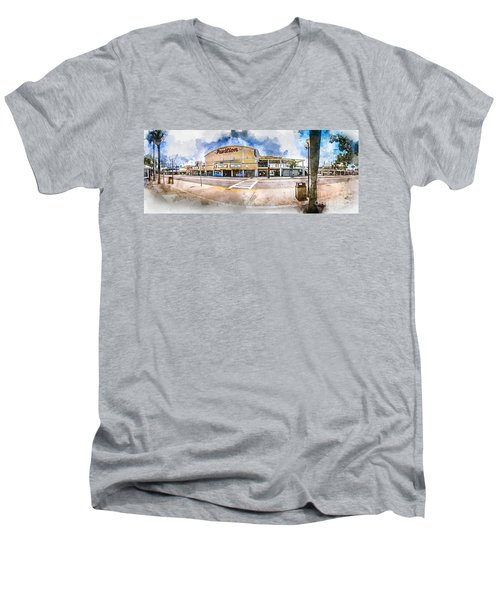 The Myrtle Beach Pavilion - Watercolor Men's V-Neck T-Shirt