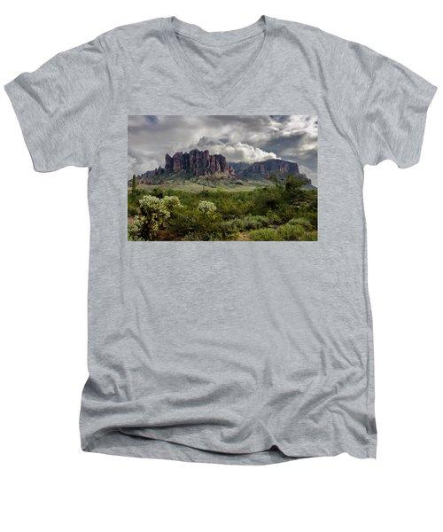 The Mystic Mountain  Men's V-Neck T-Shirt