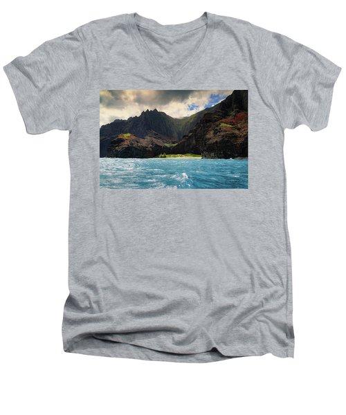 The Napali Coast Men's V-Neck T-Shirt
