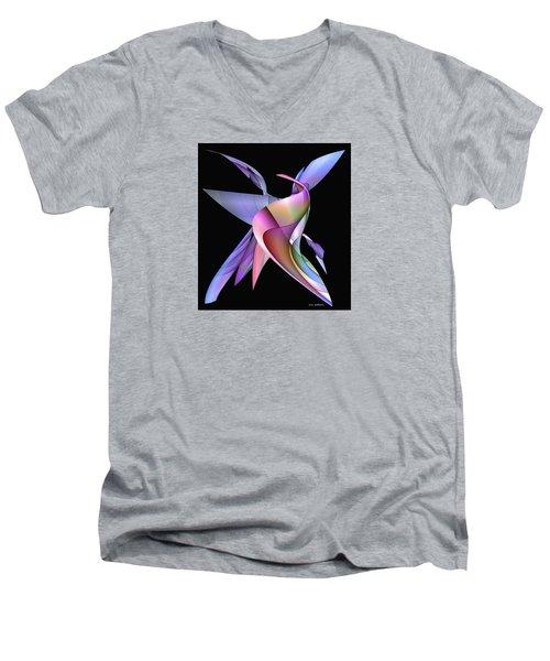 The Napkin Dance Men's V-Neck T-Shirt by Iris Gelbart